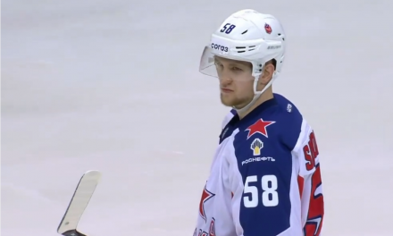 Edmonton Oilers prospect Dmitri Samorukov playing Steady Eddie hockey for CSKA in KHL